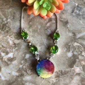 Solar Quartz & Peridot Necklace